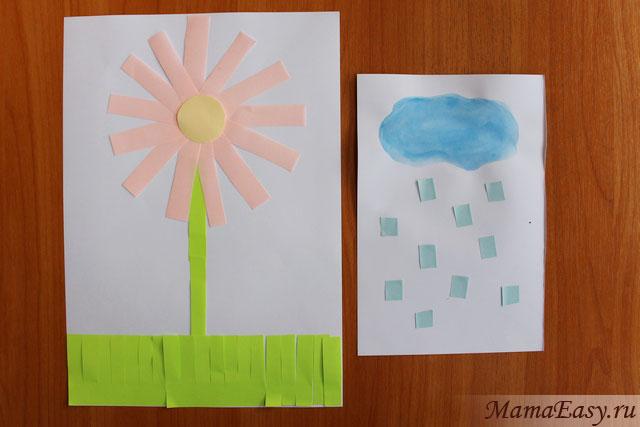 Аппликации из стикеров для детей