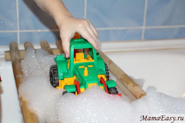 Игры с пеной для ванны