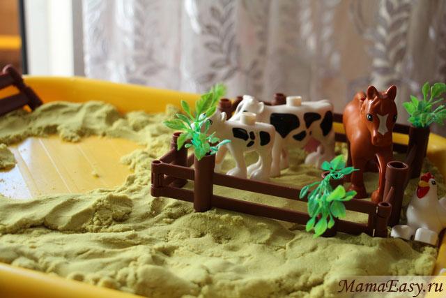 Игры с кинетическим песком для детей 2 - 7 лет