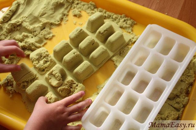 Игры с кинетическим песком для детей